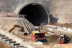 Tunnel construction site royalty free stock images