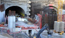 Free Tunnel Construction Site Royalty Free Stock Photography - 21815167