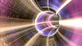 tunnel cosmique de trou de ver du rendu 3D Image stock