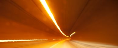Tunnel crossing Royalty Free Stock Photography