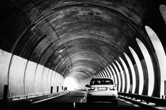 Tunnel crossing in Sicily Royalty Free Stock Photography