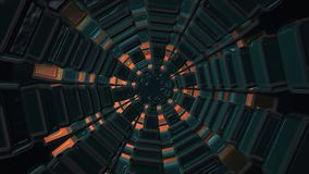 Tunnel of cubes on dark orange. In backgrounds stock footage