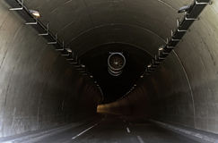 Tunnel Curve. An empty tunnel turning ahead Royalty Free Stock Photography