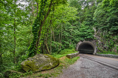 Tunnel on a Curve in the Smokies Royalty Free Stock Images