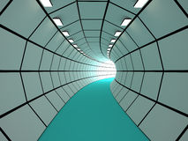 Tunnel, 3D Royalty Free Stock Images
