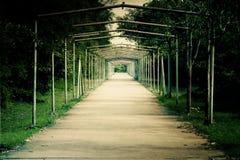 Tunnel d'acciaio sulla strada da parte a parte Fotografie Stock