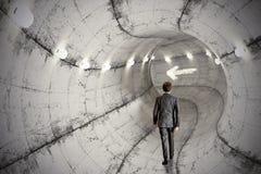 Tunnel d'affaires photos stock