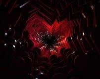 tunnel 3d dai cuori del San Valentino Fotografia Stock Libera da Diritti