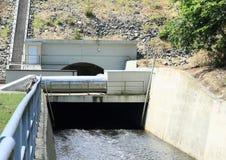 Tunnel on dam Stock Image