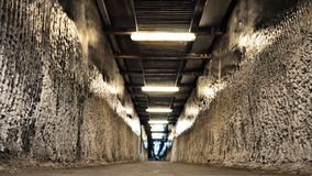 Tunnel dans la mine de sel de Turda Photo libre de droits