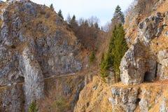 Tunnel dans la roche Photographie stock