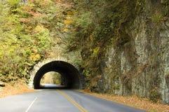 Tunnel dans le côté d'une montagne photo libre de droits