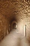 Tunnel dans le château de Karak Images stock