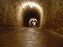 Tunnel dans une mine de sel photo libre de droits
