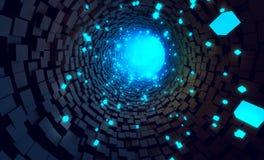 Tunnel Data Stock Photo