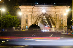 Tunnel de château de Buda à Budapest Photographie stock