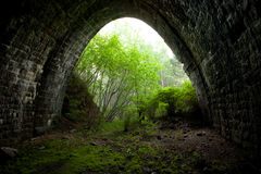 Tunnel de chemin de fer désuet Photos stock