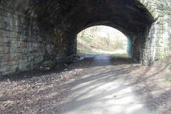 Tunnel de chemin de fer hors d'usage Photographie stock