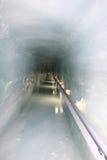 Tunnel de glace de Jungfraujoch Images libres de droits