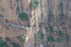 Tunnel de Guoliang dans la province de Henan de la Chine Images libres de droits