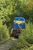 Tunnel de l'amour locomotive Automne (Klevan, obl de Rivnenska , Ukr Photographie stock libre de droits