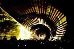 Tunnel de laser à la réception image stock