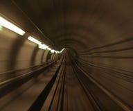 Tunnel de longeron de métro de Copenhague Photos libres de droits
