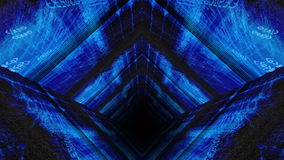 Tunnel de Matrix 3D de code de données d'ordinateur illustration stock