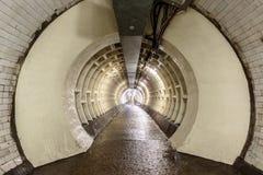 Tunnel de pied de Greenwich sous la Tamise Photos libres de droits
