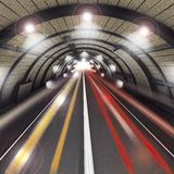 Tunnel de route Image stock