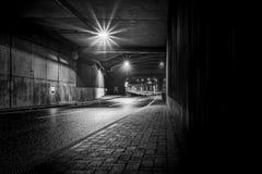 Tunnel de sortie d'autoroute d'autoroute Images stock