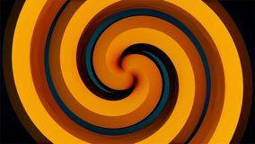 Tunnel de spirale de vortex de voyage Portail aux dimensions multiples Effet visuel de continuum d'espace-temps Mouvement animé illustration libre de droits