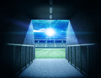 Tunnel de stade Photo libre de droits