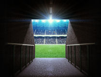 Tunnel de stade Image stock