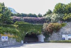 Tunnel de voiture Village de Ravello, province de Salerno, côte d'Amalfi Image stock