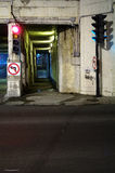 Tunnel of the death, Montreal, Canada (3) stock image