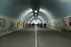 Tunnel dei graffiti in Cina Immagine Stock