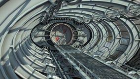 Tunnel del ponte della stazione spaziale o dell'astronave Immagini Stock Libere da Diritti