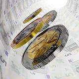 Tunnel dell'euro cinque Immagini Stock Libere da Diritti