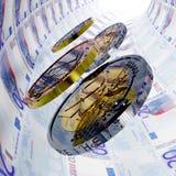 Tunnel dell'euro venti Immagine Stock Libera da Diritti