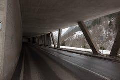 Tunnel della valanga Fotografie Stock