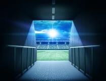 Tunnel dello stadio Fotografia Stock Libera da Diritti