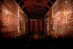 Tunnel in der Art des technogenic Unfalles Stockfoto