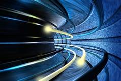 Tunnel der Drehzahl Stockfoto