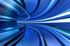 Tunnel der Geschwindigkeit Stockfotografie