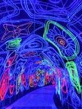 Tunnel der Leuchten stockfoto