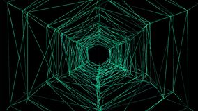 Tunnel des Draht-3D 3D belebte Drähte stock abbildung