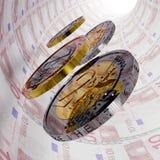Tunnel des Euro-zehn stock abbildung