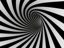 Tunnel des lignes noires et blanches Photographie stock libre de droits