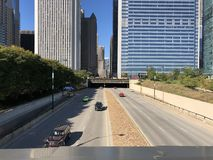 Tunnel di Chicago fotografie stock